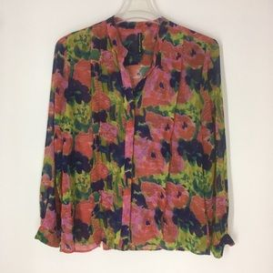 W115 by Walter Baker colorful button front blouse